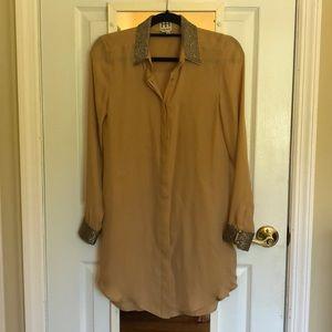 Beaded Button up Dress